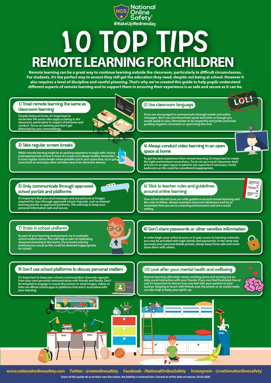 Remote Learning - 10 Top Tips